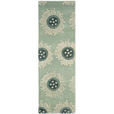Woodburn Hand-Tufted Light Blue Area Rug Rug Size: Runner 26 x 6
