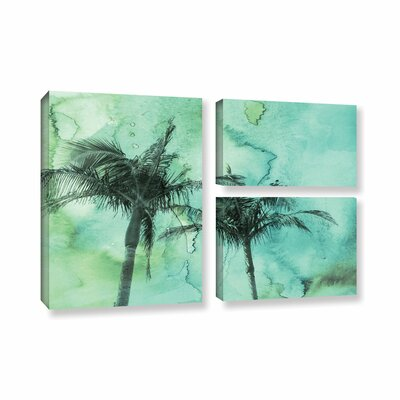 Palm Trees 2 3 Piece Painting Print on Wrapped Canvas Set