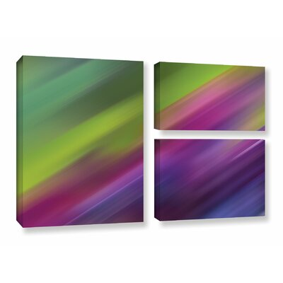 Frozen Light 3 Piece Graphic Art on Wrapped Canvas Set
