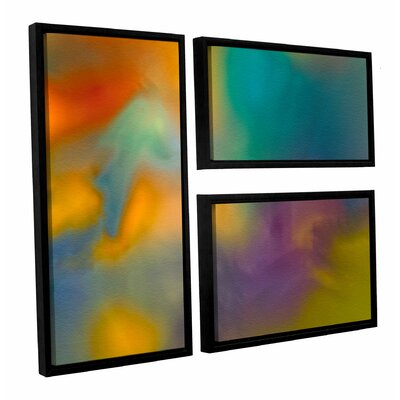 Fantasy in Colour 3 Piece Framed Graphic Art Set
