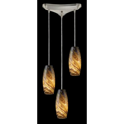 Newberry 3-Light Pendant Finish: Rainbow
