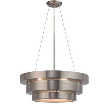 Albany 3-Light Drum Chandelier Bulb Type: 9.5W LED