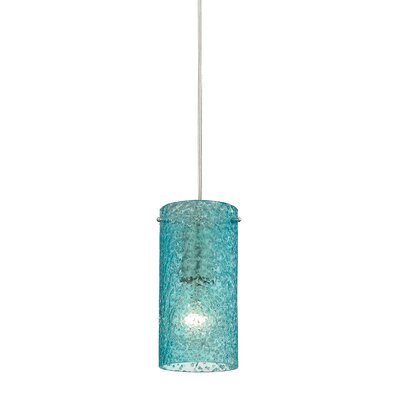 Dutchess 1-Light Mini Pendant Shade Color: Aqua