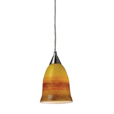 Kingston Seymour 1 Light Pendant Shade Color: Fire