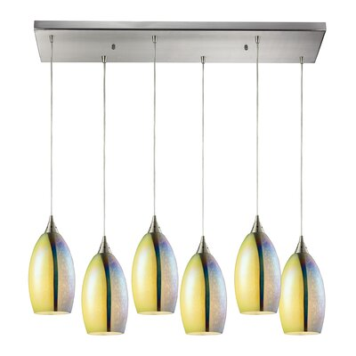 Kingston Seymour 6-Light Kitchen Island Pendant