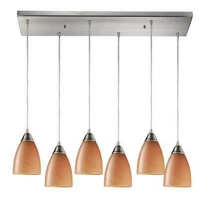 Frostia 6-Light Kitchen Island Pendant