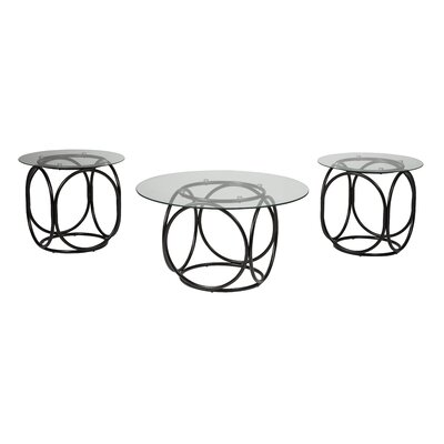Treiber 3 Piece Coffee Table Set