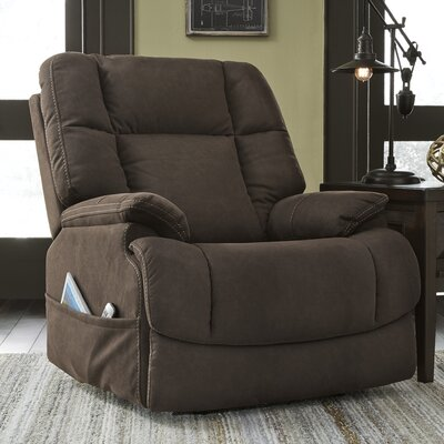Etna Power Adjustable Headrest Recliner Upholstery: Latte