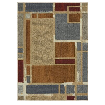 Pill Brown/Gray Area Rug Rug Size: Rectangle 16 x 26