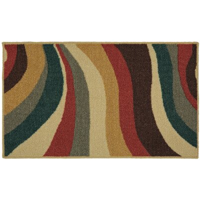 Pill Beige/Red Area Rug Rug Size: Rectangle 5 x 7
