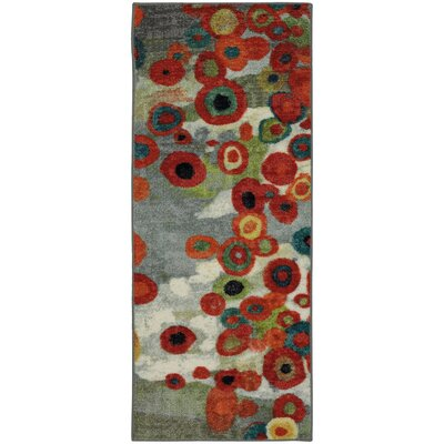 Rory Red/Gray Area Rug Rug Size: Runner 2 x 8