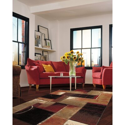 Claireville Brown/Red Area Rug Rug Size: 5 x 8