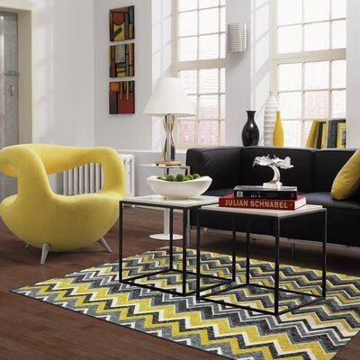 Claireville Yellow/Gray Area Rug Rug Size: 5 x 8