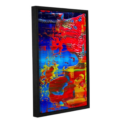 The Abstract Storm Framed Painting Print on Wrapped Canvas Size: 18