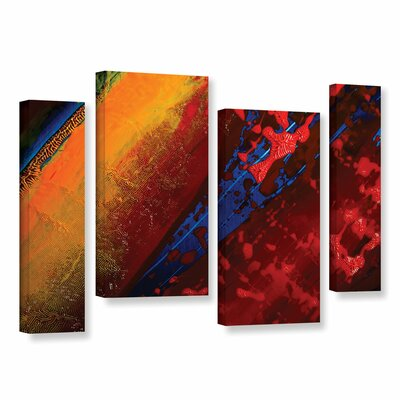 Out From The Depth 4 Piece Painting Print on Wrapped Canvas Set Size: 24