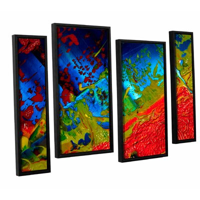 Emotional Chaos 4 Piece Framed Painting Print on Canvas Set
