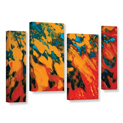 Floating 4 Piece Painting Print on Wrapped Canvas Set