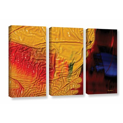 The Approaching Storm 3 Piece Graphic Art on Wrapped Canvas Set Size: 24