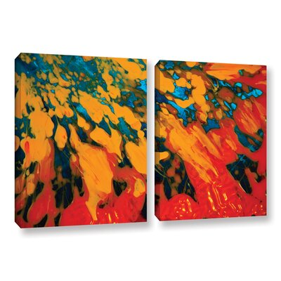 Floating 2 Piece Painting Print on Wrapped Canvas Set Size: 18
