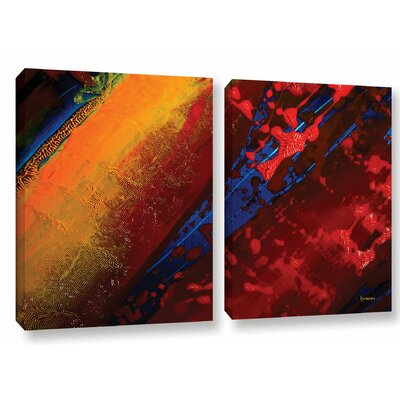 Out From The Depth 2 Piece Painting Print on Wrapped Canvas Set Size: 18
