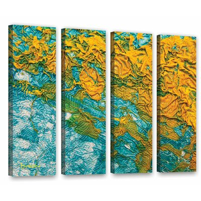 Summer Breeze 4 Piece Graphic Art on Wrapped Canvas Set