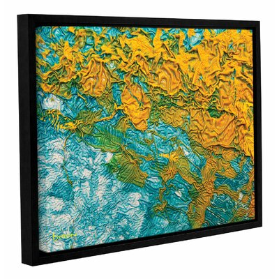 Summer Breeze Framed Graphic Art on Wrapped Canvas Size: 14