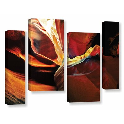 Slot Canyon Light From Above 2 4 Piece Photographic Print on Wrapped Canvas Set Size: 24