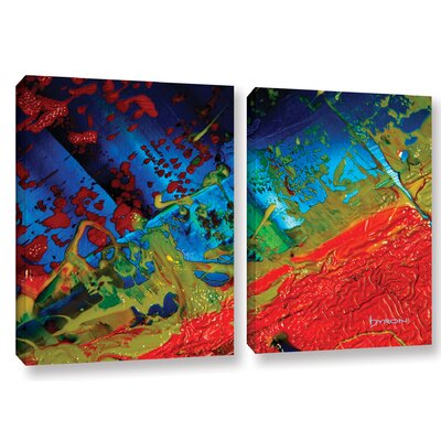 Emotional Chaos 2 Piece Painting Print on Wrapped Canvas Set