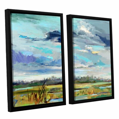 Marsh Skies 2 Piece Framed Original Painting Set