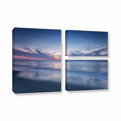 Atlantic Sunrise No.7 3 Piece Photographic Print on Wrapped Canvas Set