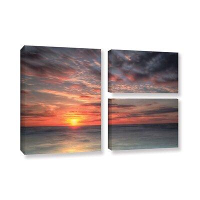Atlantic Sunrise No.9 3 Piece Photographic Print on Wrapped Canvas Set