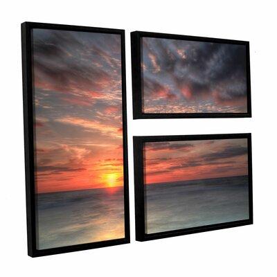 Atlantic Sunrise No.9 3 Piece Framed Photographic Print Set