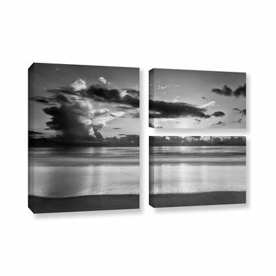 Atlantic Sunrise No.19 3 Piece Photographic Print on Wrapped Canvas Set