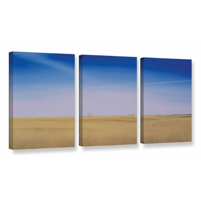 Solitary Loft 3 Piece Painting Print on Wrapped Canvas Set Size: 18