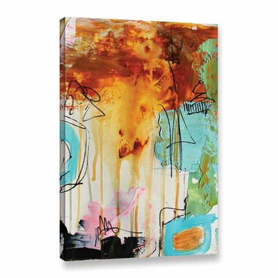 Abstract Rust Painting Print on Wrapped Canvas Size: 12