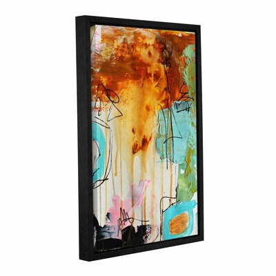 Abstract Rust Framed Painting Print on Wrapped Canvas