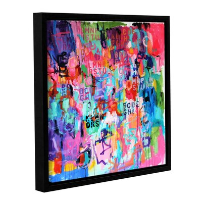 Chaos III Framed Painting Print on Wrapped Canvas
