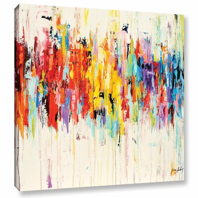 Abstract Rainbow Painting Print on Wrapped Canvas