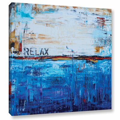 Relax Graphic Art on Wrapped Canvas Size: 10
