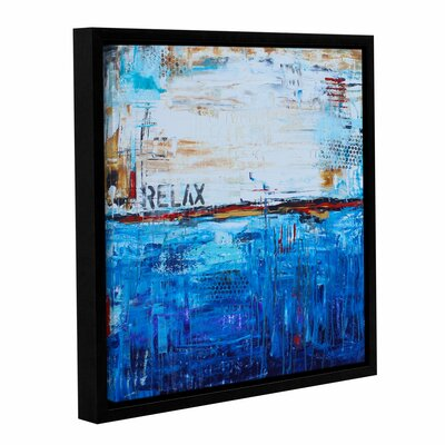 Relax Framed Graphic Art on Wrapped Canvas Size: 14