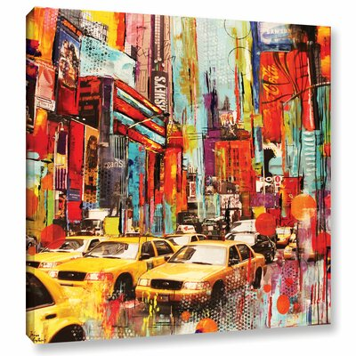 Taxi Town Graphic Art on Wrapped Canvas