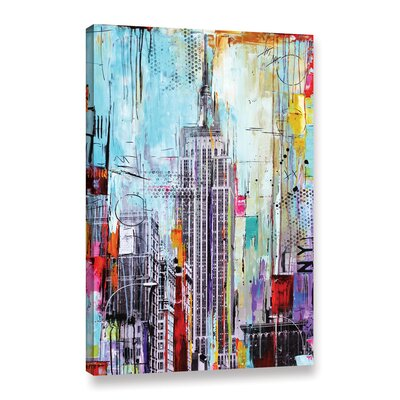 Vibrant City Graphic Art on Wrapped Canvas Size: 12