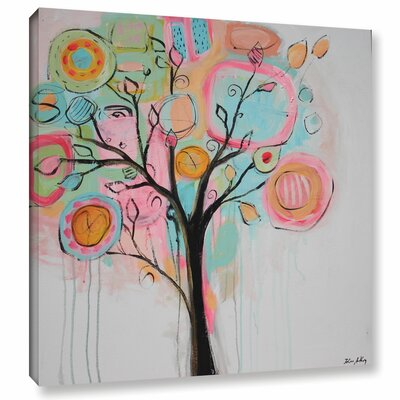Vibrant Tree Painting Print on Wrapped Canvas