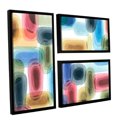 Vector 3 Piece Framed Graphic Art on Canvas Set