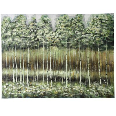 'Spring Trees' Painting Print on Canvas