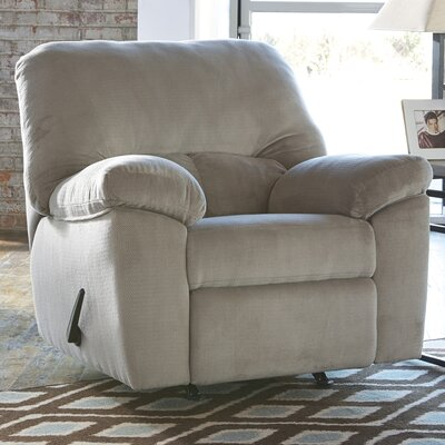 Rocco Manual Rocker Recliner Upholstery: Alloy
