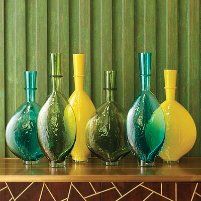 Decorative Bottle Color: Aqua, Size: 16.75