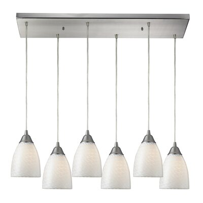 Ammara 6-Light Kitchen Island Pendant Shade Color: Canary