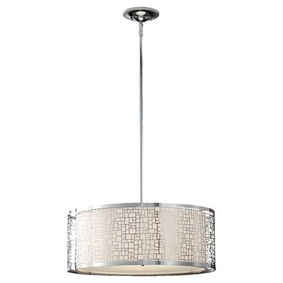 Evart 3-Light Drum Pendant Finish: Chrome