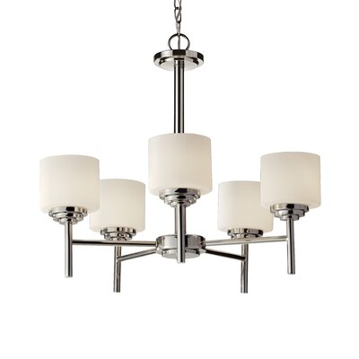 Arlon 5-Light Shaded Chandelier